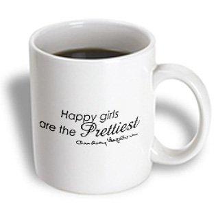happiest girls are the prettiest girls Audrey Hepburn quote mug