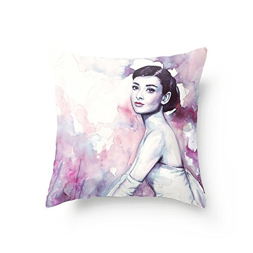 Check this Audrey Hepburn watercolor pillow out!
