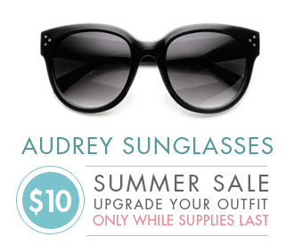 Audrey Hepburn Holly Golightly Sunglasses