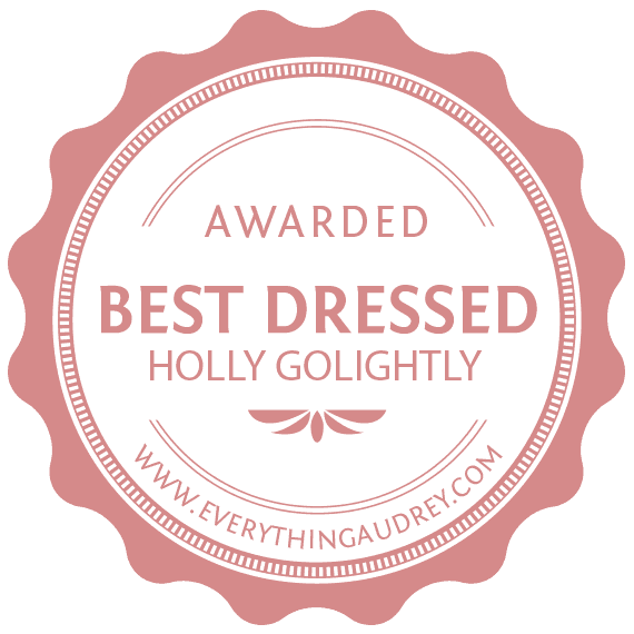 best dressed holly golightly costume badge