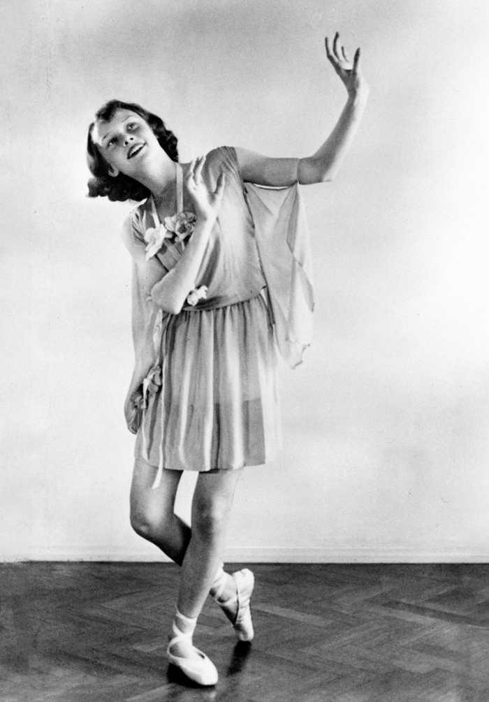 Young Audrey Hepburn Ballet Slippers