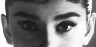 Audrey Hepburn Eyes and Eyelashes with makeup