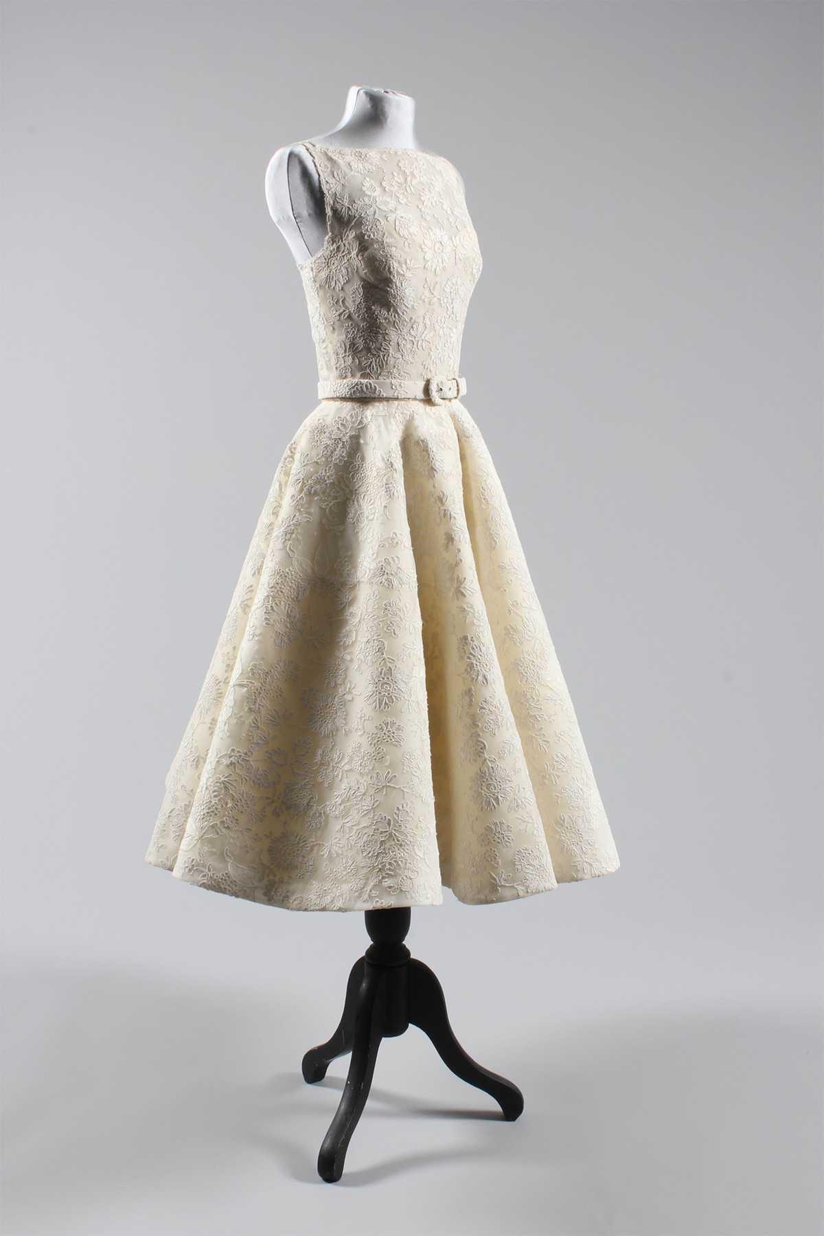 Audrey Hepburn Oscar Dress Front Side