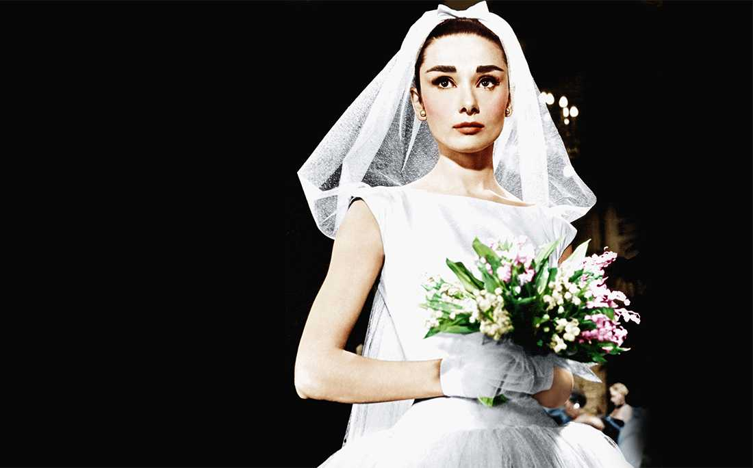 Audrey Hepburn Wedding Dress Photos, Ceremonies, & Dress Replicas