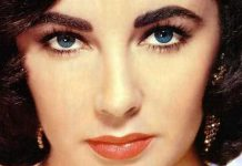 Elizabeth Taylor eye color is blue