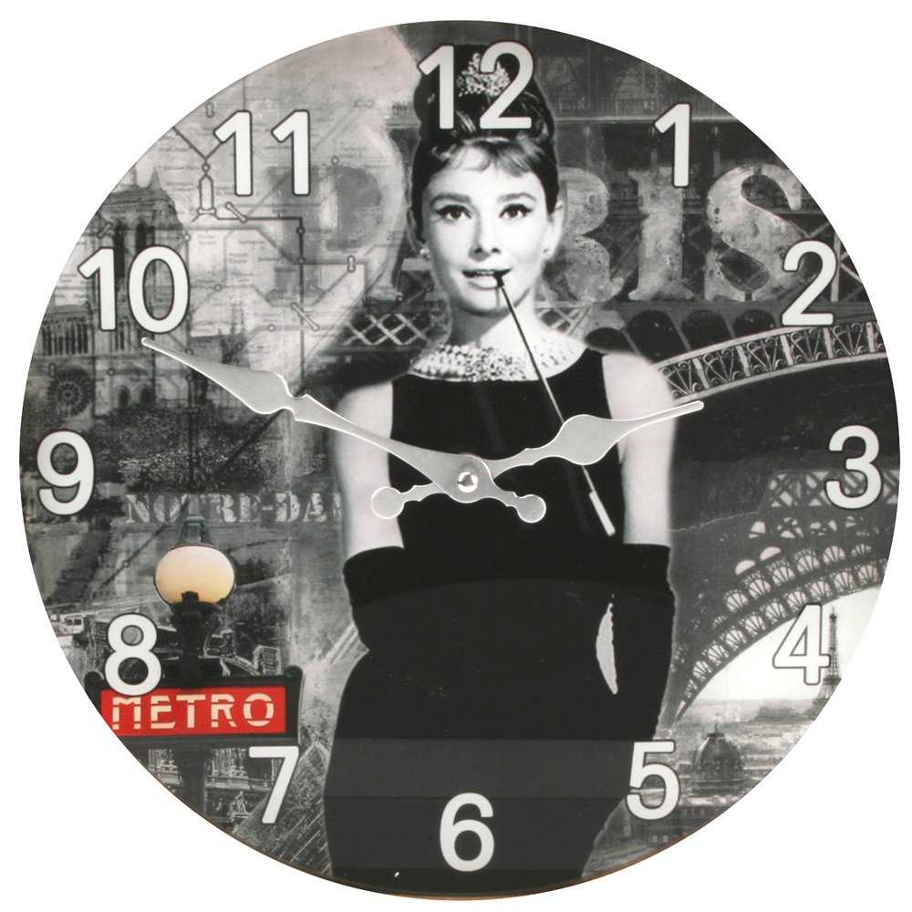 Check out this beautiful Audrey Hepburn Clock which is Wall Mount type.