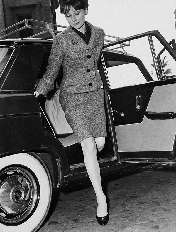 Audrey Hepburn Fashion Style - Skirt Suit