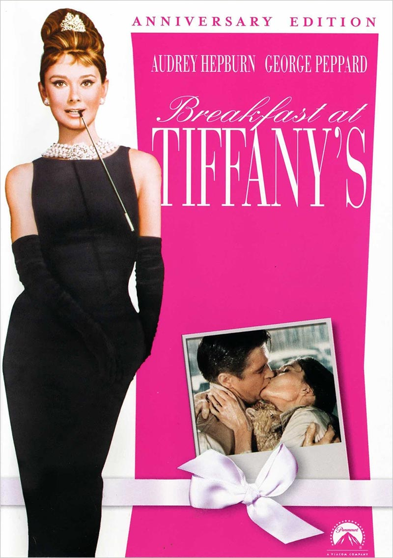 breakfast at tiffany's DVD cover - Best Audrey Hepburn Movies