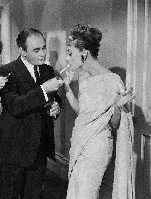 Audrey Hepburn Smoking