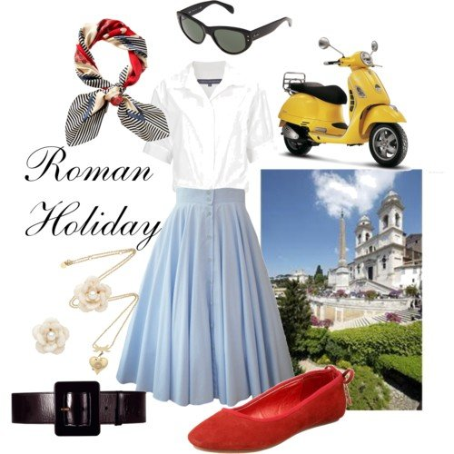 audrey hepburn in roman holiday costume - halloween ideas