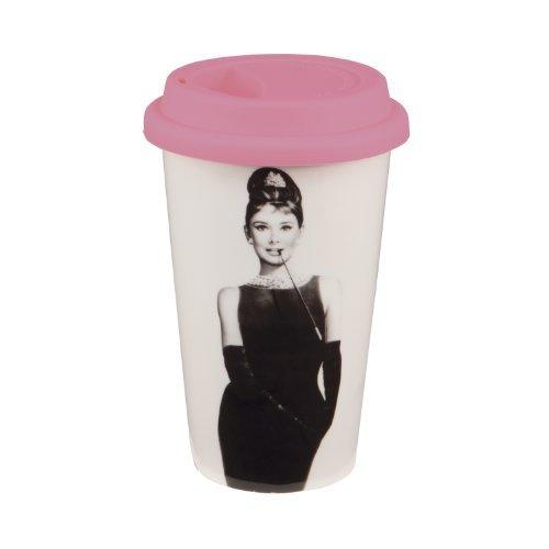 audrey hepburn tall ceramic mug