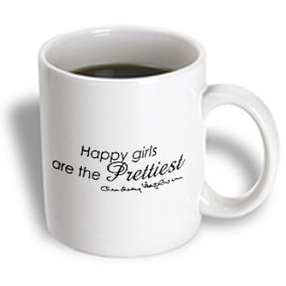 happiest girls are the prettiest girls Audrey Hepburn quote mug