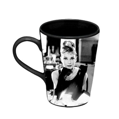 black and white Breakfast at Tiffany's Mug for coffee