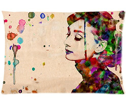 Look at this charming Audrey Hepburn pillow case!