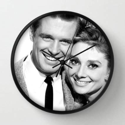 Cute Breakfast at Tiffany's Clock - Wall Mount