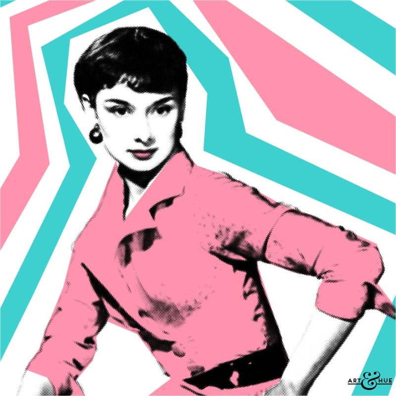 Audrey Hepburn Pop Art created by Art & Hue