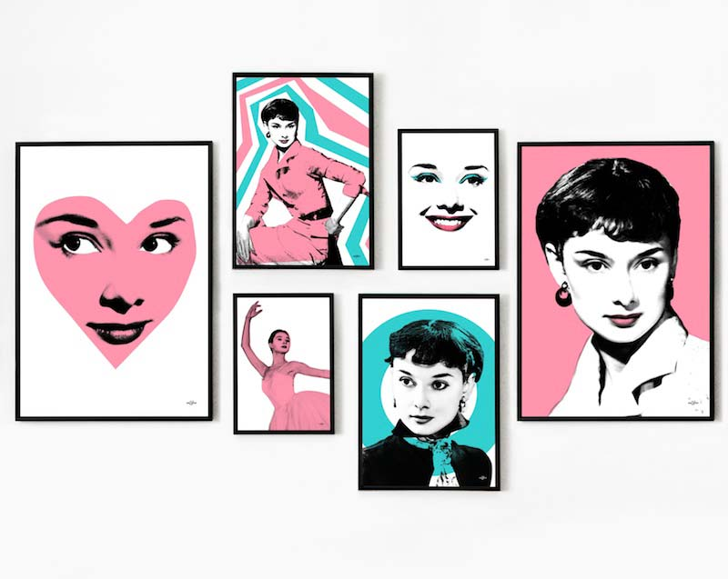 Audrey Hepburn Pop Art Show Case
