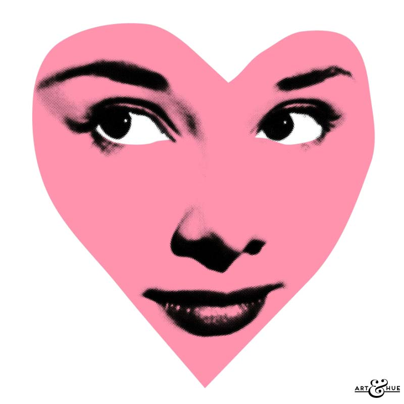 Audrey Hepburn Pop Art - Heart shaped face