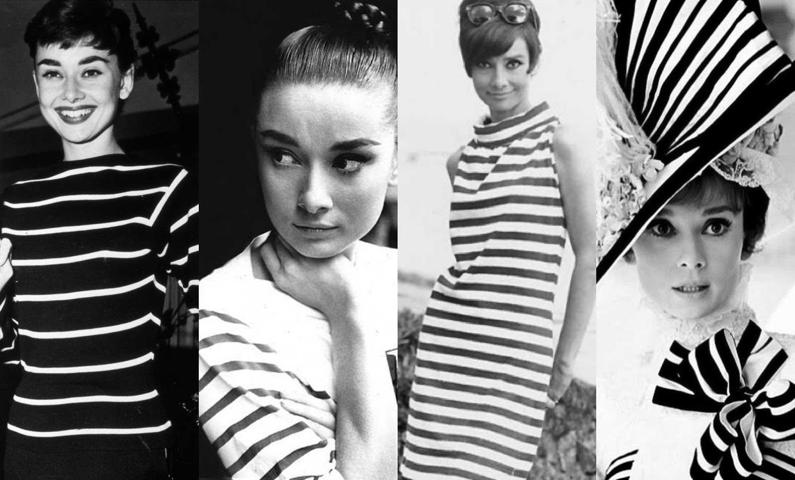 audrey hepburn striped clothing