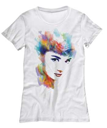 water color shirt of Audrey