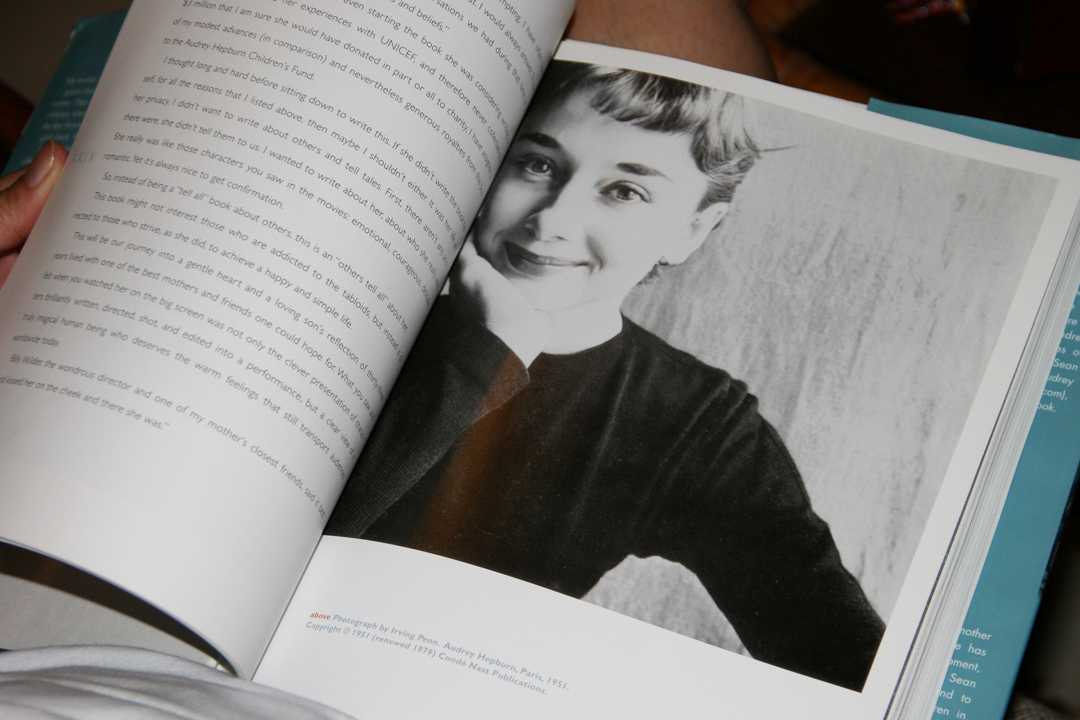 Audrey Hepburn books with pages