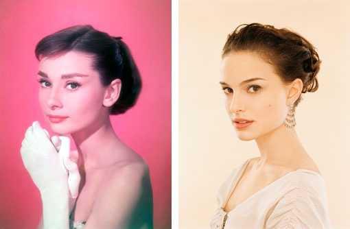 Natalie Portman Audrey Hepburn Look alike