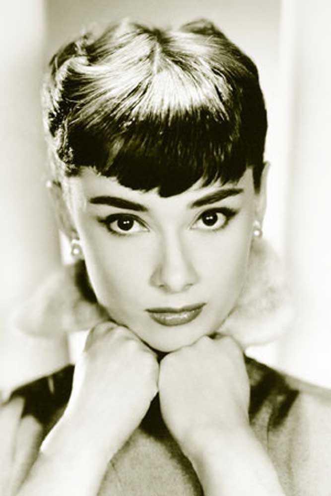 Audrey Hepburn Poster - Hands Chin