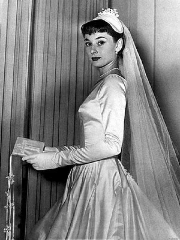 Audrey Hepburn Wedding Dress when she was engaged the first time