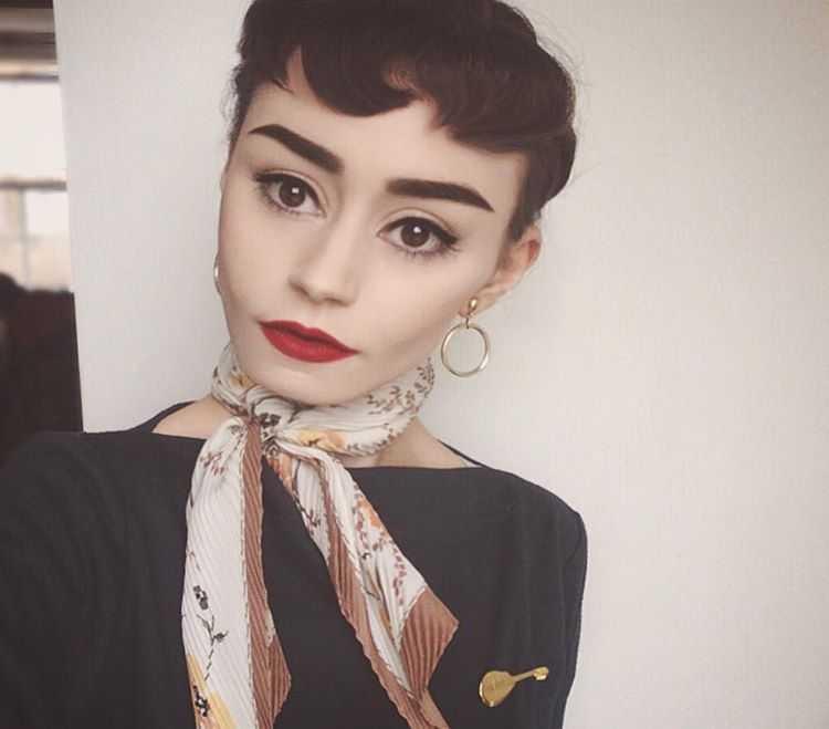 Charlotte Tighe Audrey Hepburn Look alike