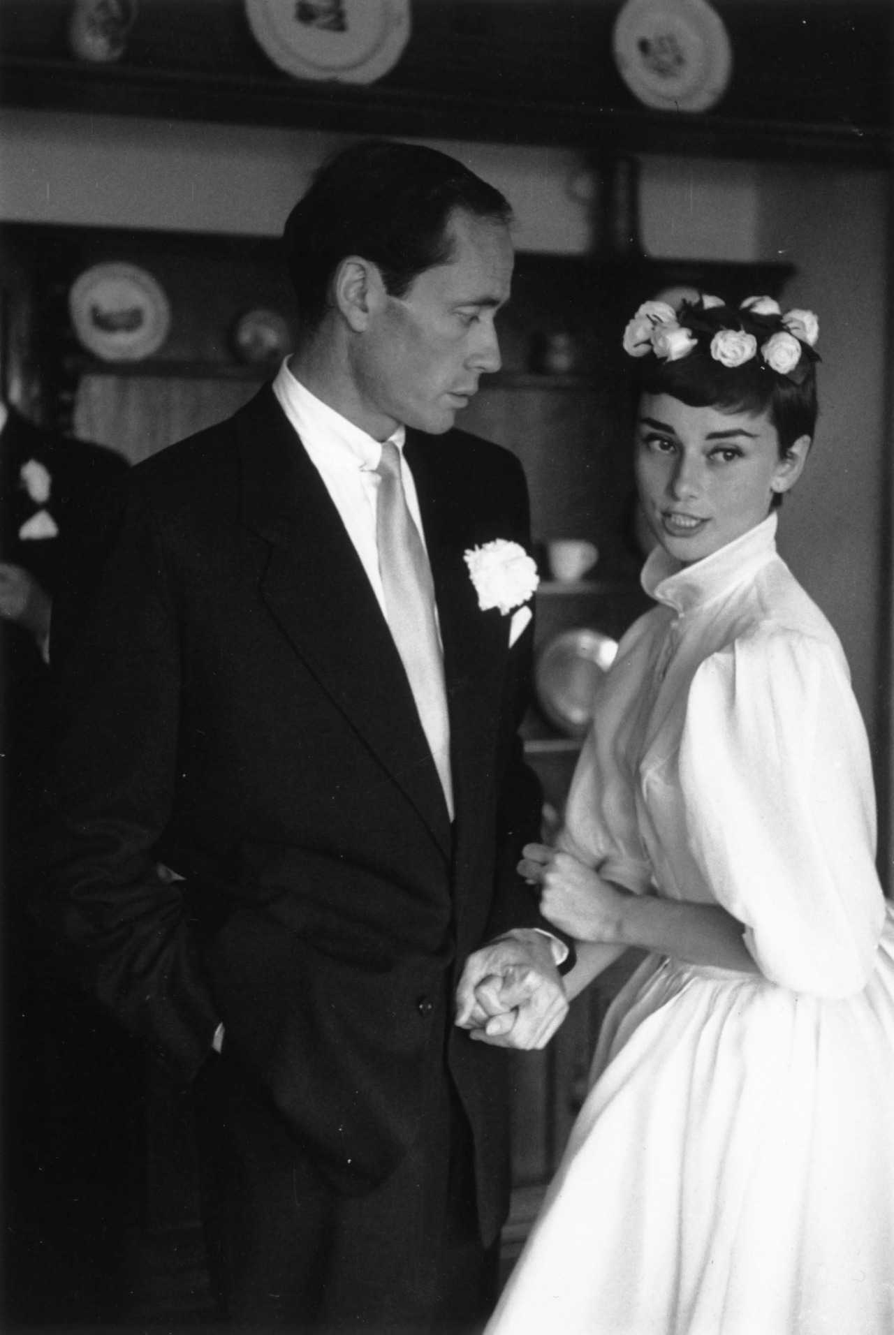 first marriage Mel Ferrer - Audrey Hepburn Wedding Dresses