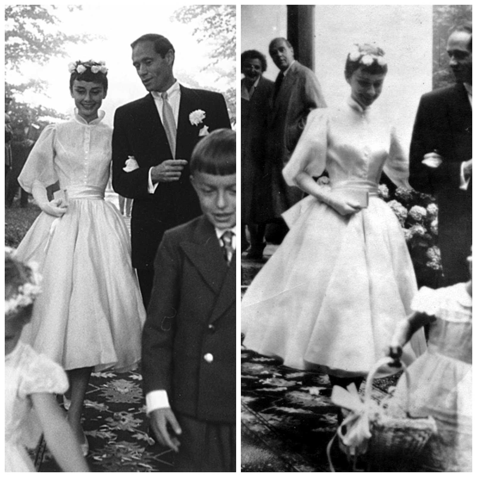 robe de mariée d'Audrey Hepburn