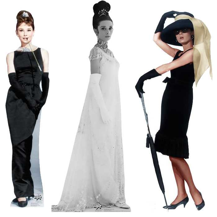 Check out this life size Audrey Hepburn standup cardboard cutout, these are awesome!