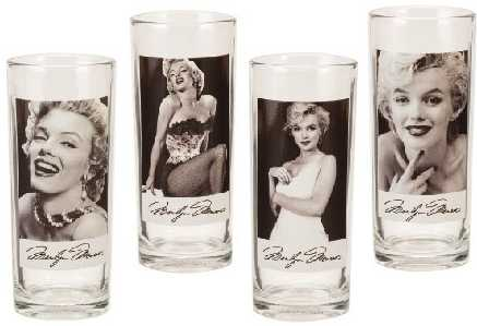 Marilyn Monroe Glass Gifts Drinking Cups