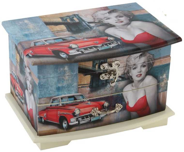 Wooden Marilyn Monroe Jewelry Box